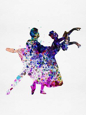 Ballet Dancers Watercolor 1 Print by Naxart Studio