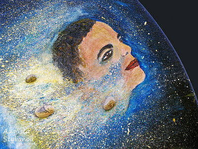 Obama Painting -  Barack Obama  Stars by Augusta Stylianou