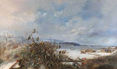 Siskin Painting -  Birds Of A Feather by  Charles Henry Clifford  Baldwyn