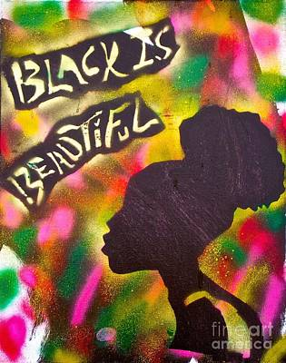 Conscious Painting -  Black Is Beautiful Girl by Tony B Conscious