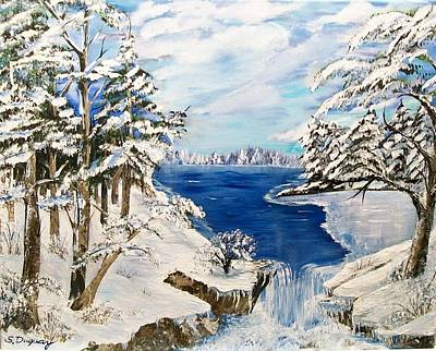 Winterscenes Painting -  Blanket Of Ice by Sharon Duguay