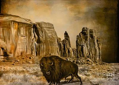 Bison Digital Art -  Buffalo...... by Andrzej Szczerski