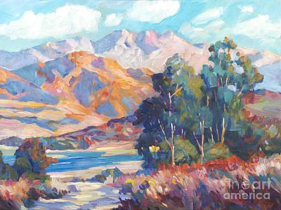 Brushstrokes Painting -  California Lake by David Lloyd Glover