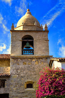 Adobe Church Photograph -  Carmel Mission by Garry Gay