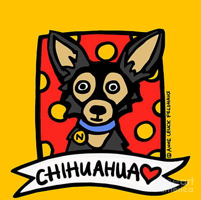 Chihuahua Love Print by Anne Leuck