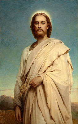 Cornfield Painting -  Christ Of The Cornfield by Frank Dicksee