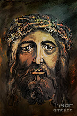 Christ With Thorn Crown. Original by Andrzej Szczerski