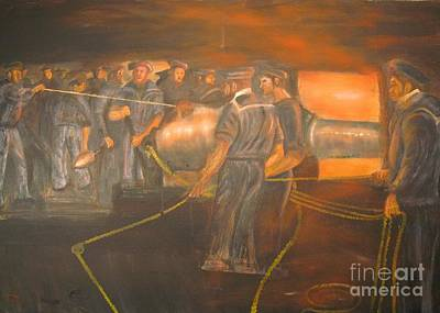 Civil War Painting -  Civil War Gun Boats At Belmont And Fort Henry by Anthony Morretta