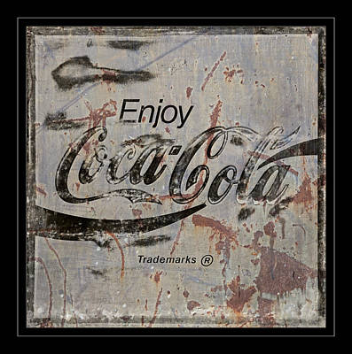 Coca-cola Sign Photograph -  Coca Cola Sign Grungy Retro Style by John Stephens