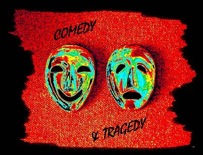 Despair Digital Art -  Comedy And Tragedy by Will Borden