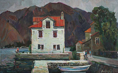 Montenegro Painting -  Coolness Of Olive City by Juliya Zhukova