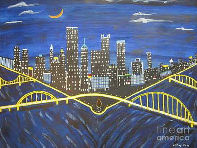 Crescent Over Pittsburgh  Original by Jeffrey Koss