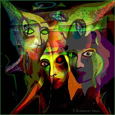 Luminescent Digital Art -   Demons  Angels  - 214 by Irmgard Schoendorf Welch