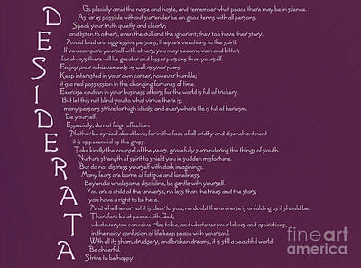 Moral Digital Art - Desiderata 5 by Wendy Wilton
