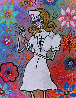 Carter Painting -  Dia De Los Muertos Nurse by Pristine Cartera Turkus