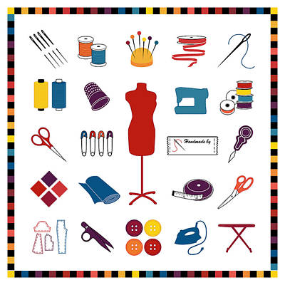 Do It Yourself Sewing Tailoring And Crafts Print by J M Designs
