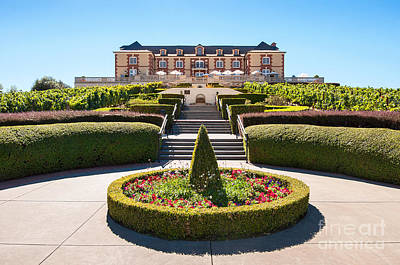 Domaine Carneros Winery And Vineyard In Napa Valley California. Print by Jamie Pham