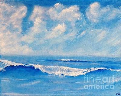 Oceanscape Painting -  Dreamy  Day by Teresa Wegrzyn