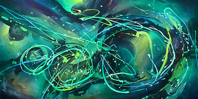 Abstract Movement Painting -  'evening Sky' by Michael Lang
