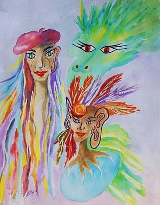 Expressionist Dream  Print by Ellen Levinson