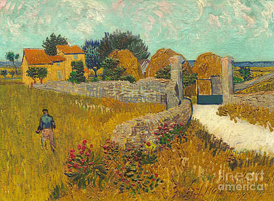 South Of France Painting -  Farmhouse In Provence by Vincent van Gogh