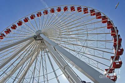 Ferris Wheel Print by Oleksandr Koretskyi