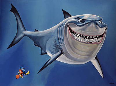 Animation Painting - Finding Nemo Painting by Paul Meijering
