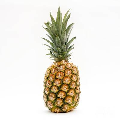 Colored Background Photograph -  Fresh Pineapple by Bernard Jaubert