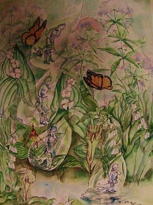 Tear Drawing -  Frozen  Sorrow by Beth Arroyo