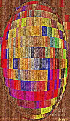 Geometric Abstractions Colorful Cool Creations Designer Phone Cases 124 Carole Spandau  Print by Carole Spandau