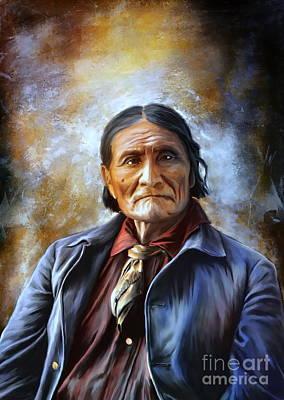 Geronimo Print by Andrzej Szczerski