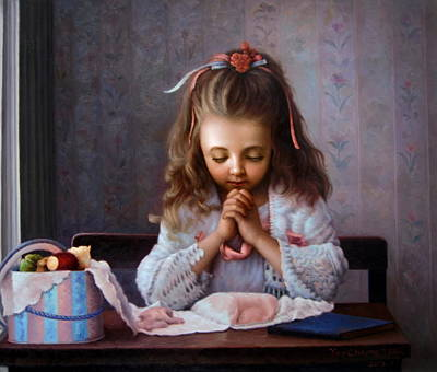 Girl's Prayer Print by Yoo Choong Yeul