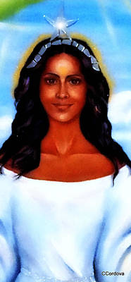 Yemaya Mixed Media -  Goddess Yemaya by Carmen Cordova
