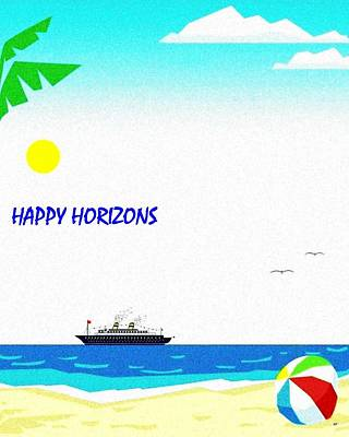 Happy Horizons Print by Will Borden