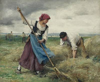 Girl Painting -  Harvesters And Workers by Celestial Images