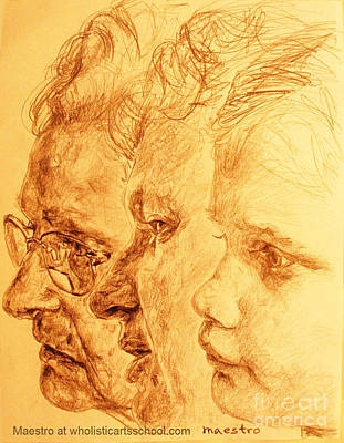 Have Your 3 Generations Drawn Or Painted Original by PainterArtistFINs Husband MAESTRO