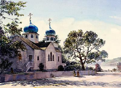 Sitka Painting -  Holy Resurrection Cathedral Kodiak by Vladimir Zhikhartsev