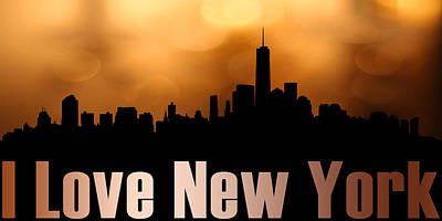 I Love New York Print by Toppart Sweden