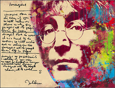 -imagine-john Lennon Print by Vitaliy Shcherbak