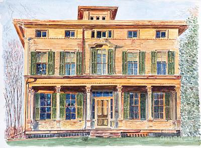 Italianate House Ny Print by Anthony Butera