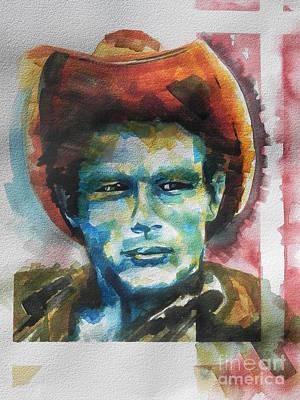 Painting -  James Dean  by Chrisann Ellis
