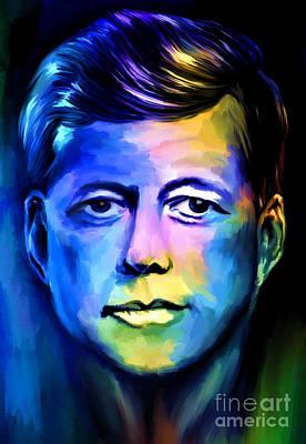 Oswald Painting -  John Fitzgerald Kennedy by Andrzej Szczerski