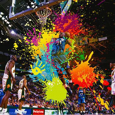 Kevin Garnett Of Minnesota Timberwolves  Original by Don Kuing