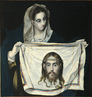 Jesus Face Painting -  La Veronica by El Greco