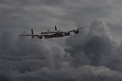 Lancaster - Heavy Weather Print by Pat Speirs