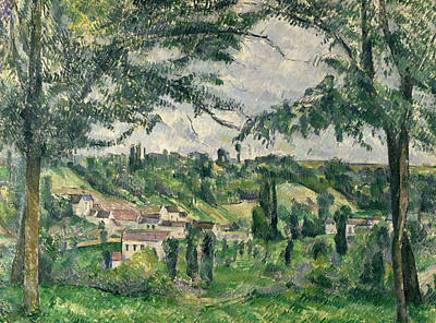 Rooftops Painting -  Landscape  by Paul Cezanne