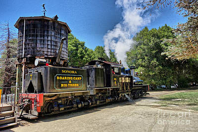 Caboose Photograph -  Leaving The Station by Cheryl Young