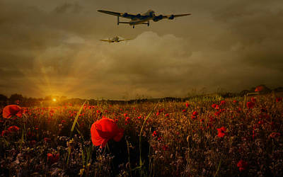 Spitfire Photograph -  Lest We Forget by Jason Green