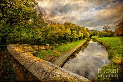 Llangollen Digital Art -  Llangollen Canal by Adrian Evans