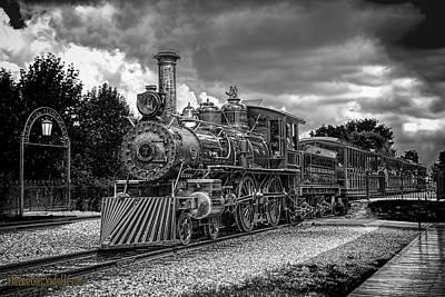 Greenfield Photograph -  Locomotive Steam Black  White by LeeAnn McLaneGoetz McLaneGoetzStudioLLCcom